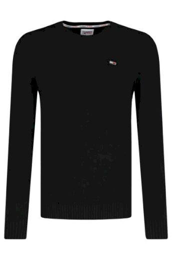 Tommy Jeans pánský černý svetr LIGHTWEIGHT SWEATER