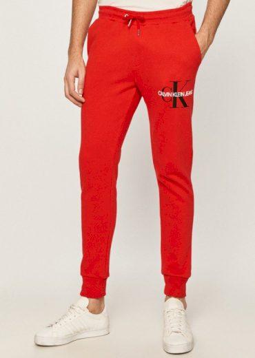 Calvin Klein pánské červené tepláky MONOGRAM JOG PANT
