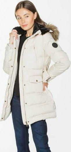 Pepe Jeans dámská péřová krémová bunda MOLI