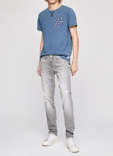 Pepe Jeans pánské šedé džíny HATCH