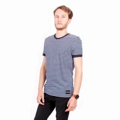 Calvin Klein pánské tričko modré s proužky