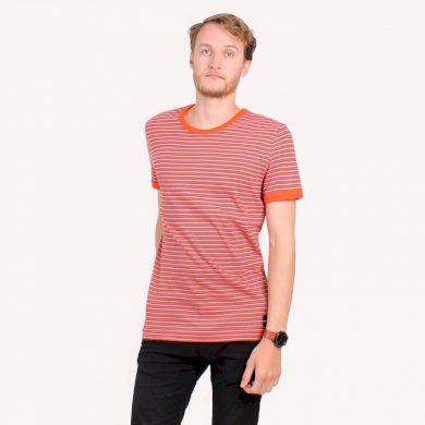 Calvin Klein pánské tričko oranžové s proužky