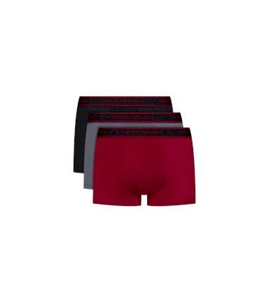 Emporio Armani pánské boxerky | 3 ks - vínové, černé, šedé