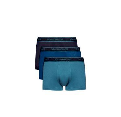 Emporio Armani pánské boxerky | 3 ks - modré
