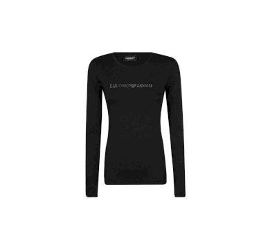 Emporio Armani dámské černé tričko s dlouhým rukávem