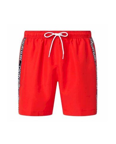 Calvin Klein pánské červené plavky MEDIUM DRAWSTRING