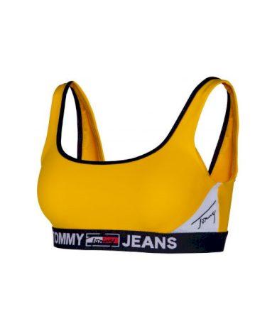 Tommy Jeans dámská žlutá horní část bikin BRALETTE