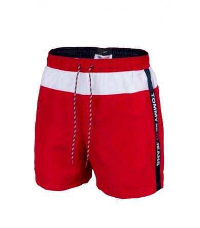Tommy Jeans pánské červené plavky SF MEDIUM DRAWSTING