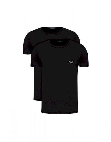 EMPORIO ARMANI pánská černá trička DUO-PACK