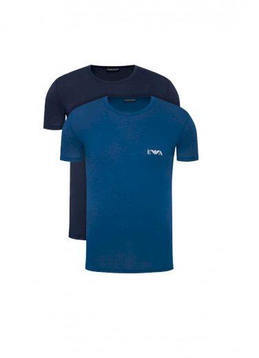 EMPORIO ARMANI pánská modrá trička DUO-PACK