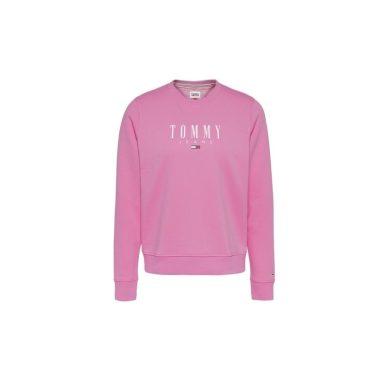 Tommy Jeans dámská růžová mikina TJW REGULAR ESSENTIAL LOGO