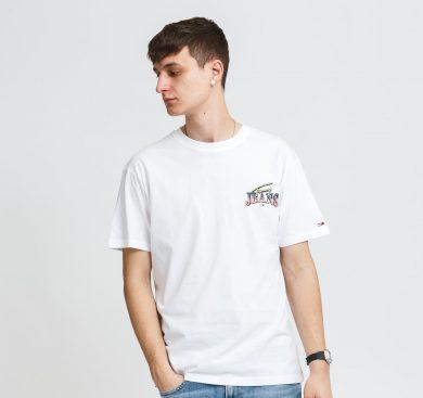 TOMMY JEANS pánské bílé tričko DIAMOND BACK LOGO TEE