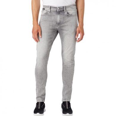 Calvin Klein Jeans pánské šedé denim džíny SLIM TAPER