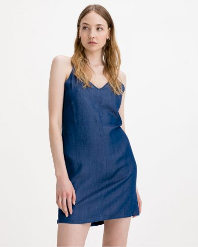 Pepe Jeans dámské modré džínové šaty MELODY