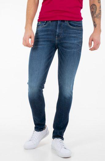 Calvin Klein pánské tmavě modré džíny SKINNY
