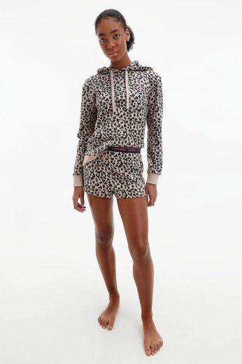 Calvin Klein dámská leopardí mikina na spaní CK ONE