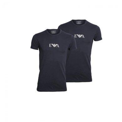 Emporio Armani pánské tmavě modré tričko - 2 pack