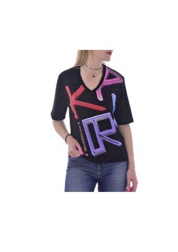 Karl Lagerfeld dámské černé tričko