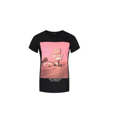 GUESS dámské černé tričko s potiskem