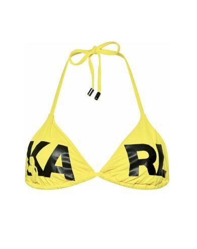 KARL LAGERFELD dámský žlutý top TRIANGLE BRA