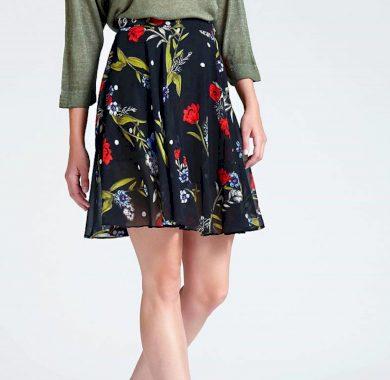 GUESS dámská černá květinová sukně