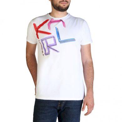 KARL LAGERFELD pánské bílé tričko