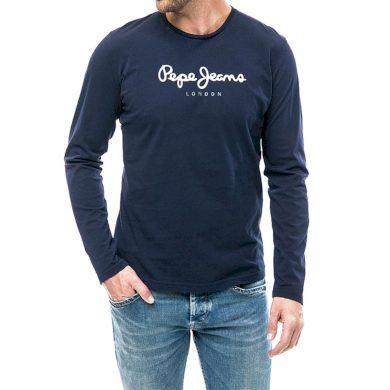 Pepe Jeans pánské tmavě modré tričko s dlouhým rukávem EGGO LONG