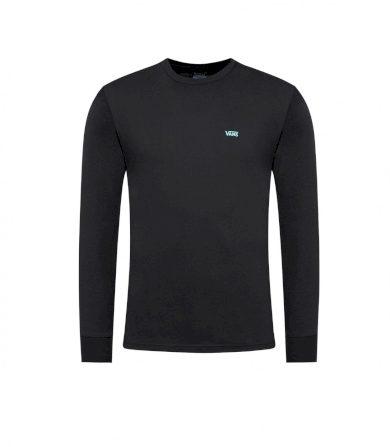 VANS pánské černé tričko s dlouhým rukávem LEFT CHEST HIT