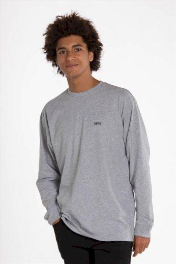 VANS pánské šedé tričko s dlouhým rukávem LEFT CHEST HIT