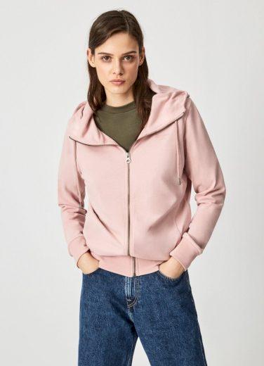Pepe Jeans dámská světle růžová mikina ANNE