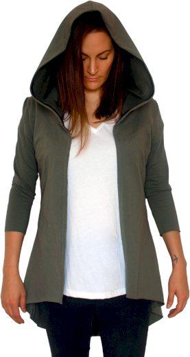 Dámský kabátek s velkou kapucí Barrsa Khaki