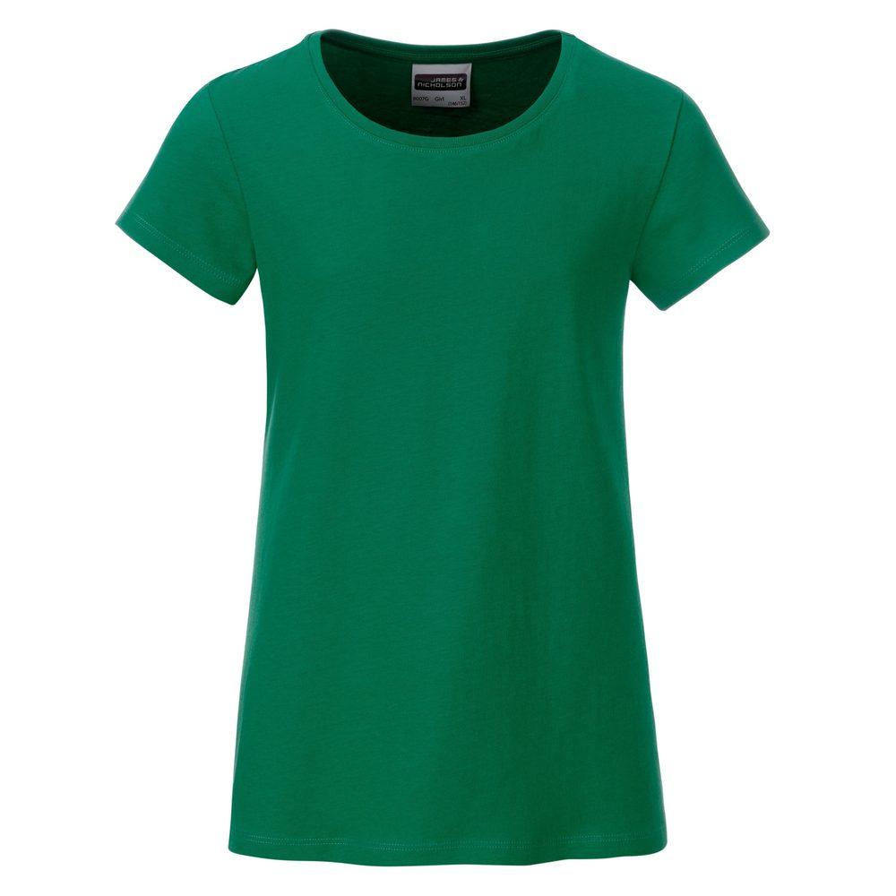 Klasické dívčí tričko z biobavlny 8007G