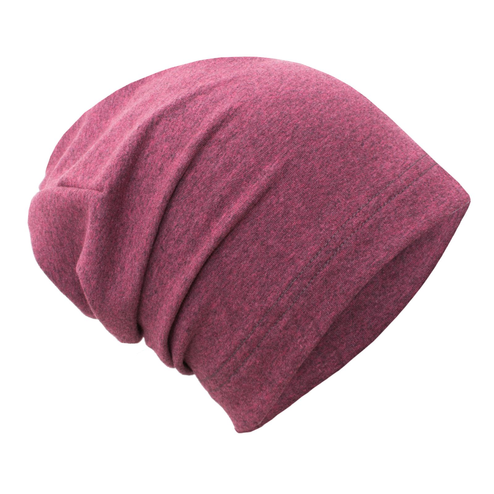 unuo teplákovinová čepice spadená, Růžový melír