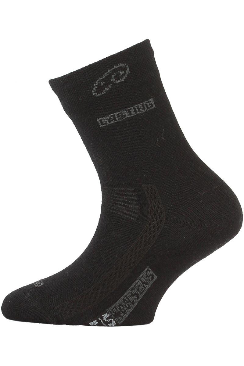 Lasting TJS 900 černá merino ponožka junior slabší