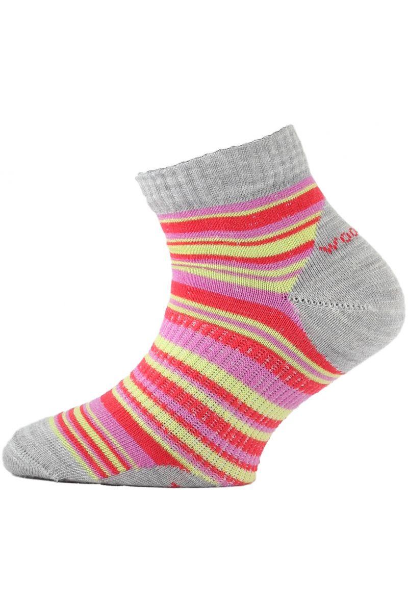 Lasting TJP 308 červená merino ponožka junior slabší
