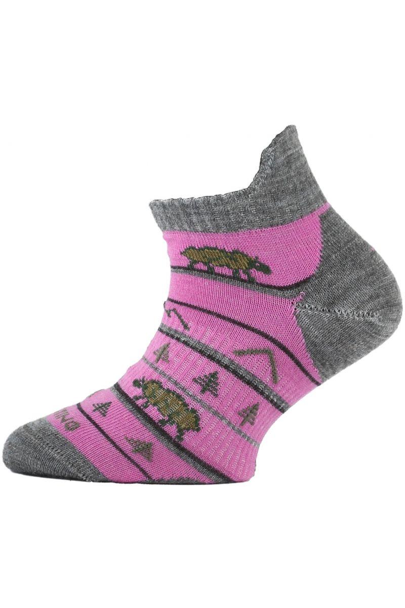 Lasting dětské merino ponožky TJM růžové