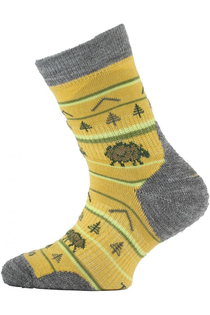 Lasting TJL dětské merino ponožky hořčicové