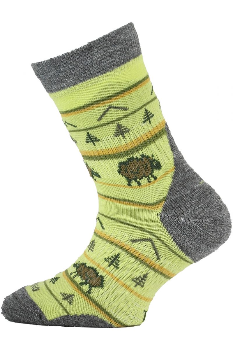 Lasting dětské merino ponožky TJL žlutá