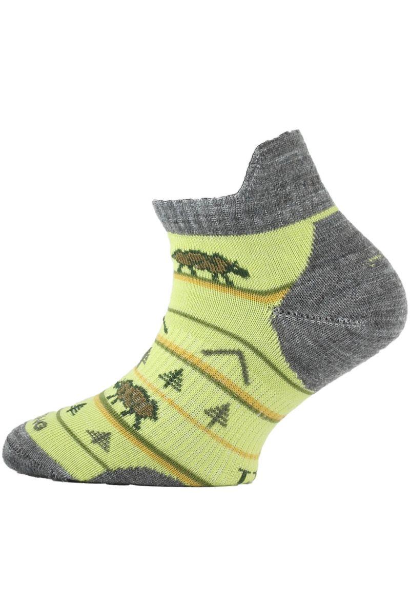 Lasting dětské merino ponožky TJM žluté