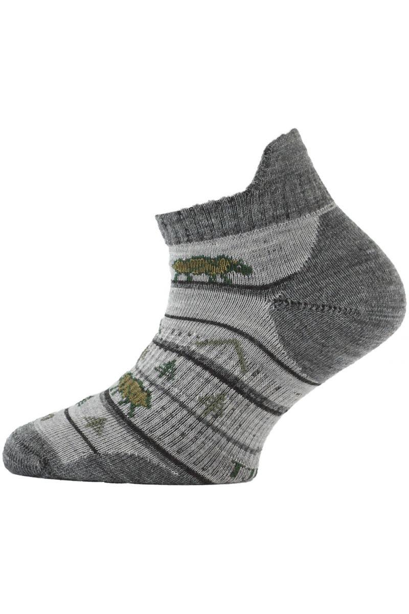 Lasting dětské merino ponožky TJM šedé
