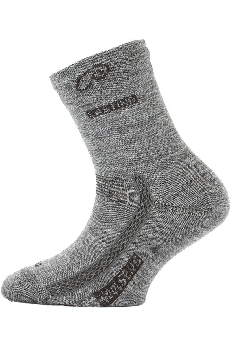 Lasting dětské merino ponožky TJS šedé