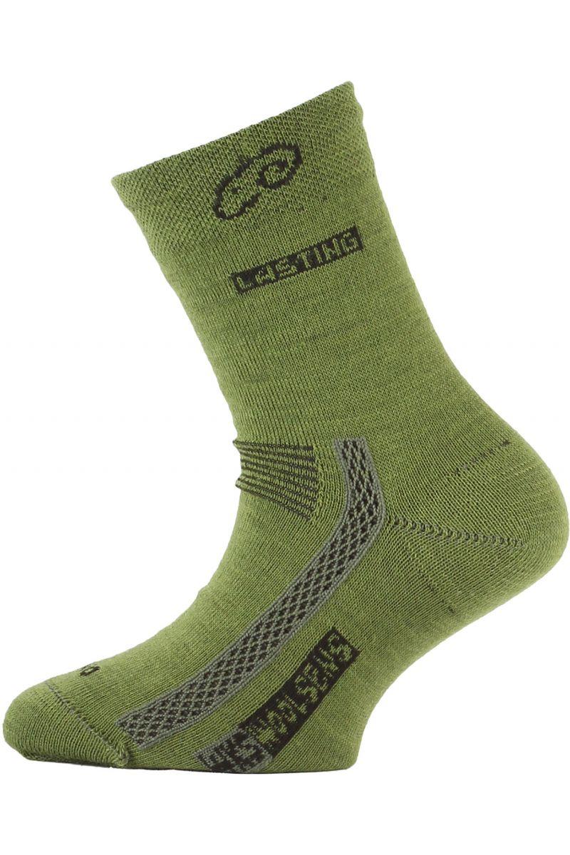 Lasting dětské merino ponožky TJS zelené