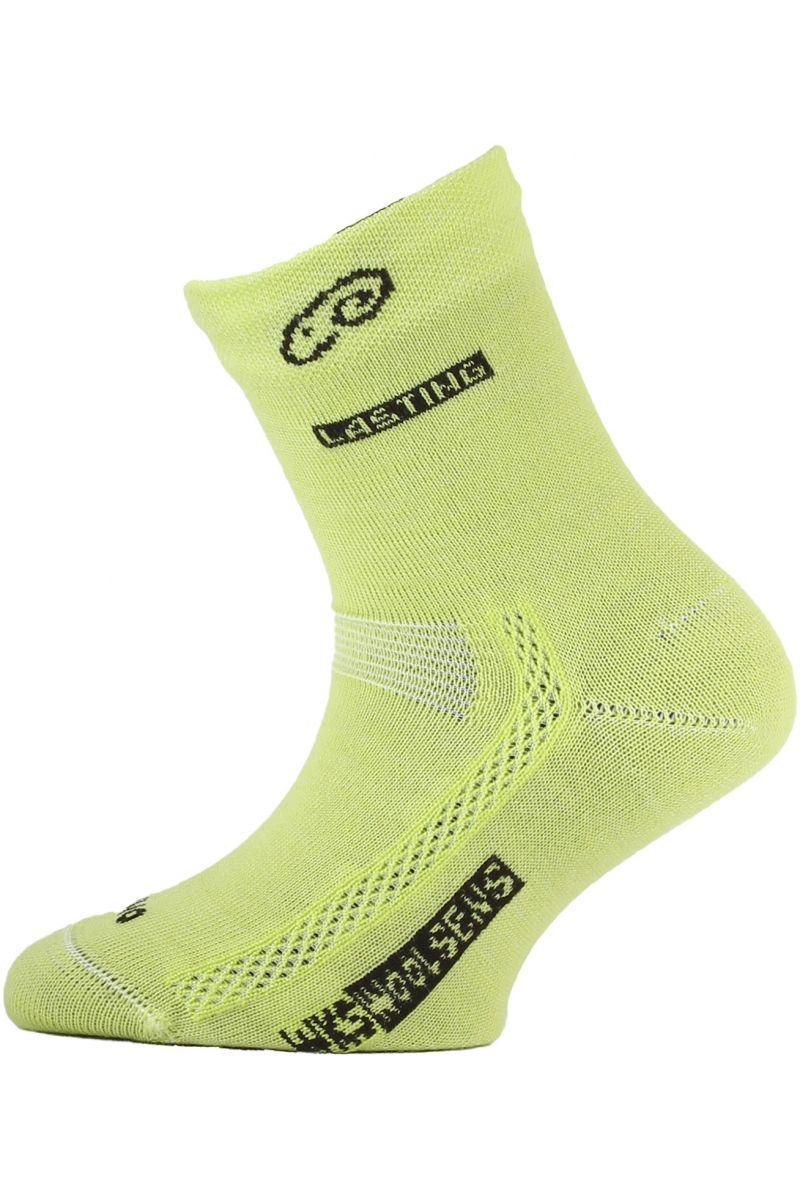 Lasting dětské merino ponožky TJS žluté