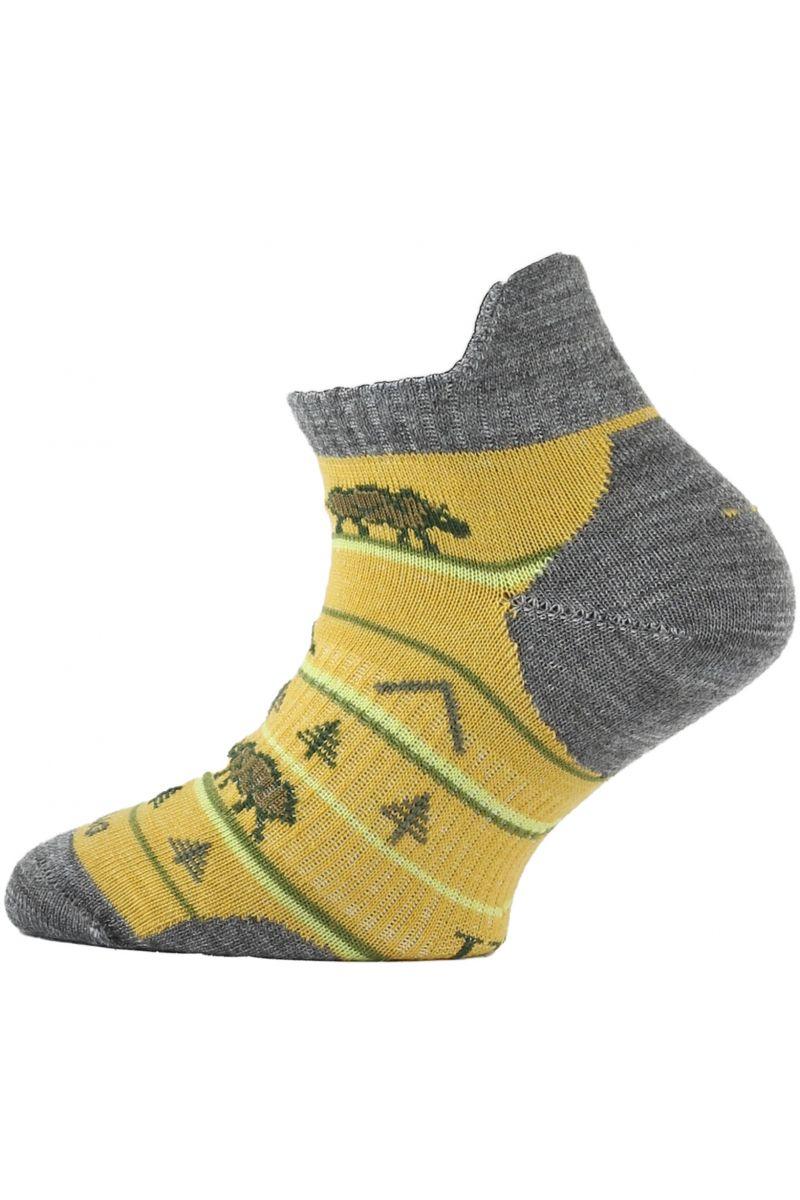 Lasting dětské merino ponožky TJM hořčicové
