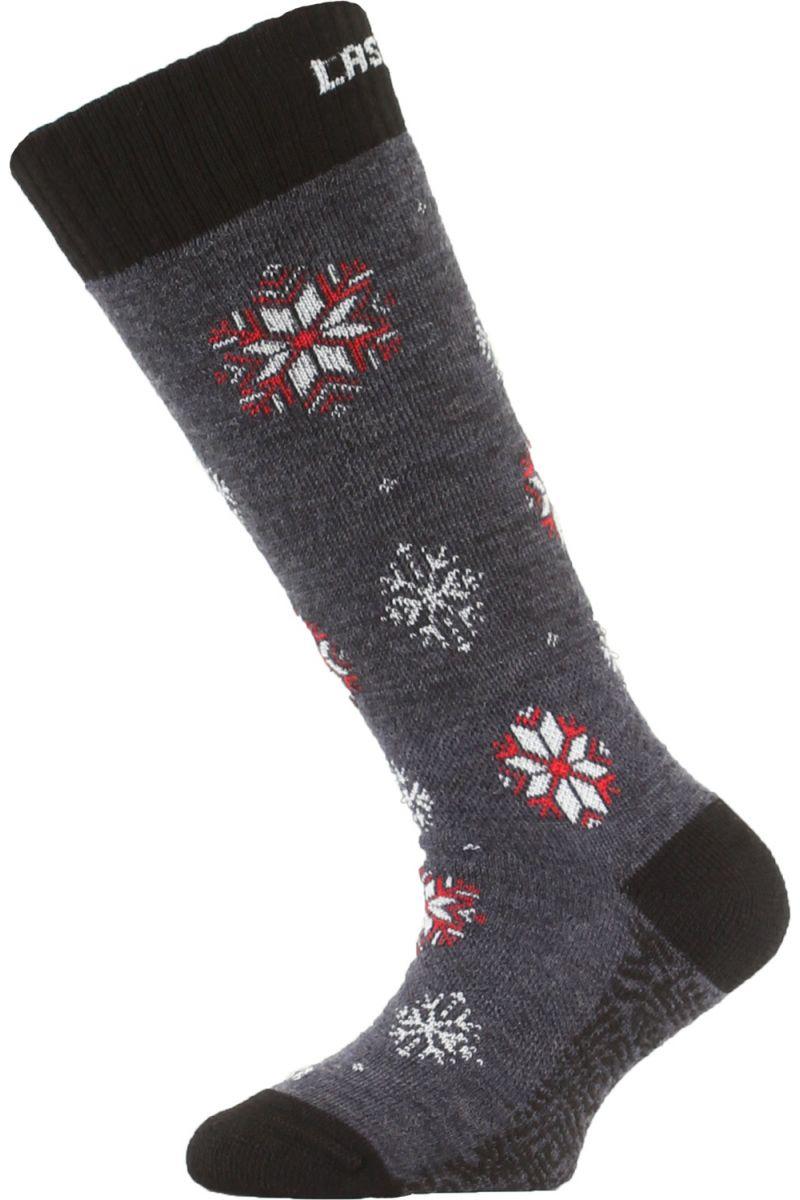 Lasting dětské merino lyžařské ponožky SJA modré