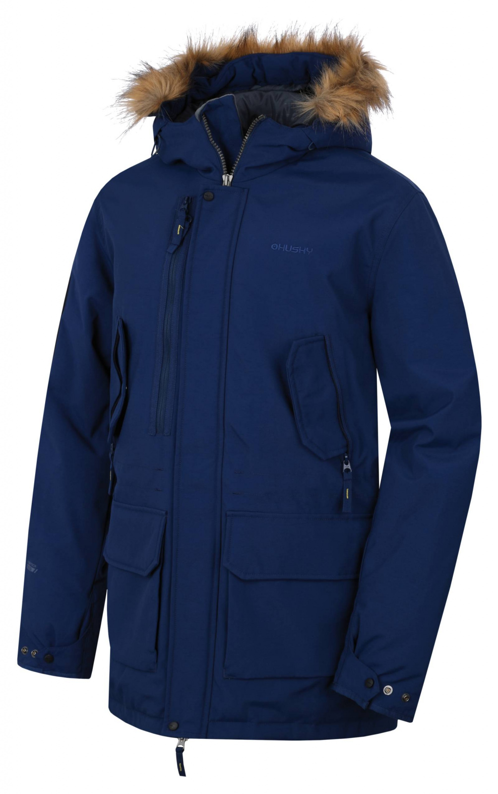 Husky Pánský plněný zimní kabát  Nelidas M tm. modrá