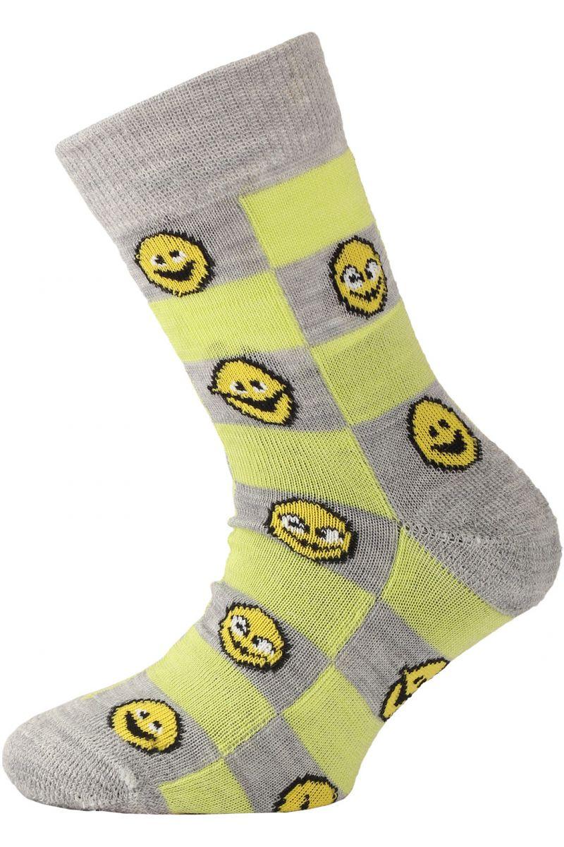 Lasting dětské merino ponožky TJE žluté