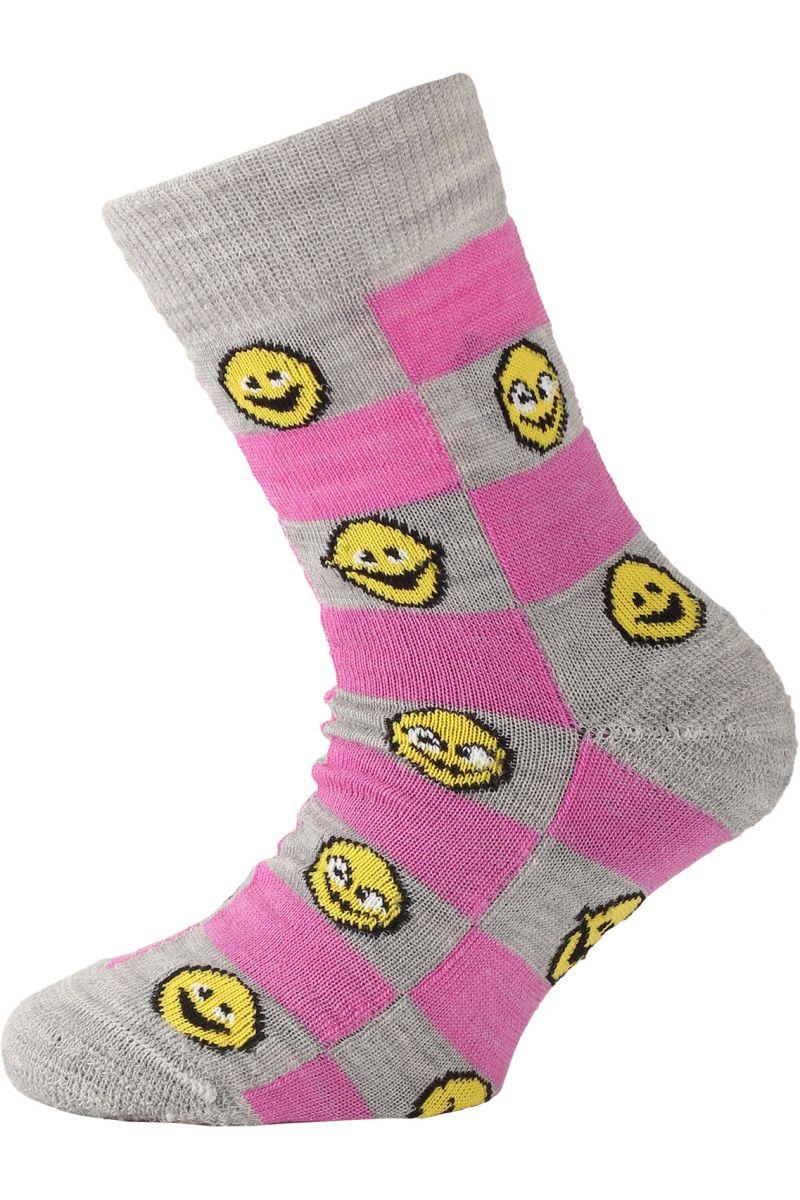 Lasting dětské merino ponožky TJE růžové