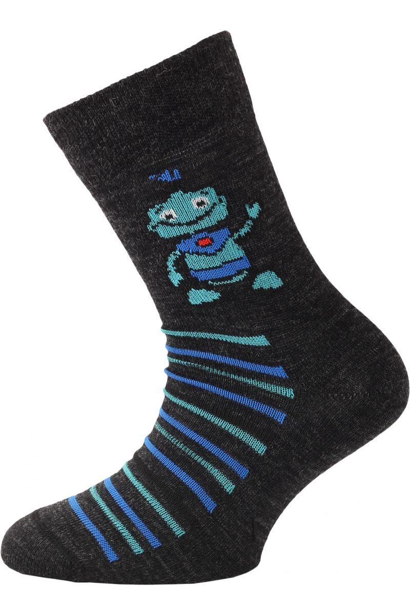 Lasting dětské merino ponožky TJB černá