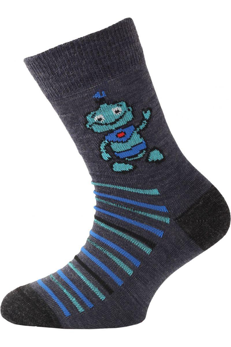 Lasting dětské merino ponožky TJB modré